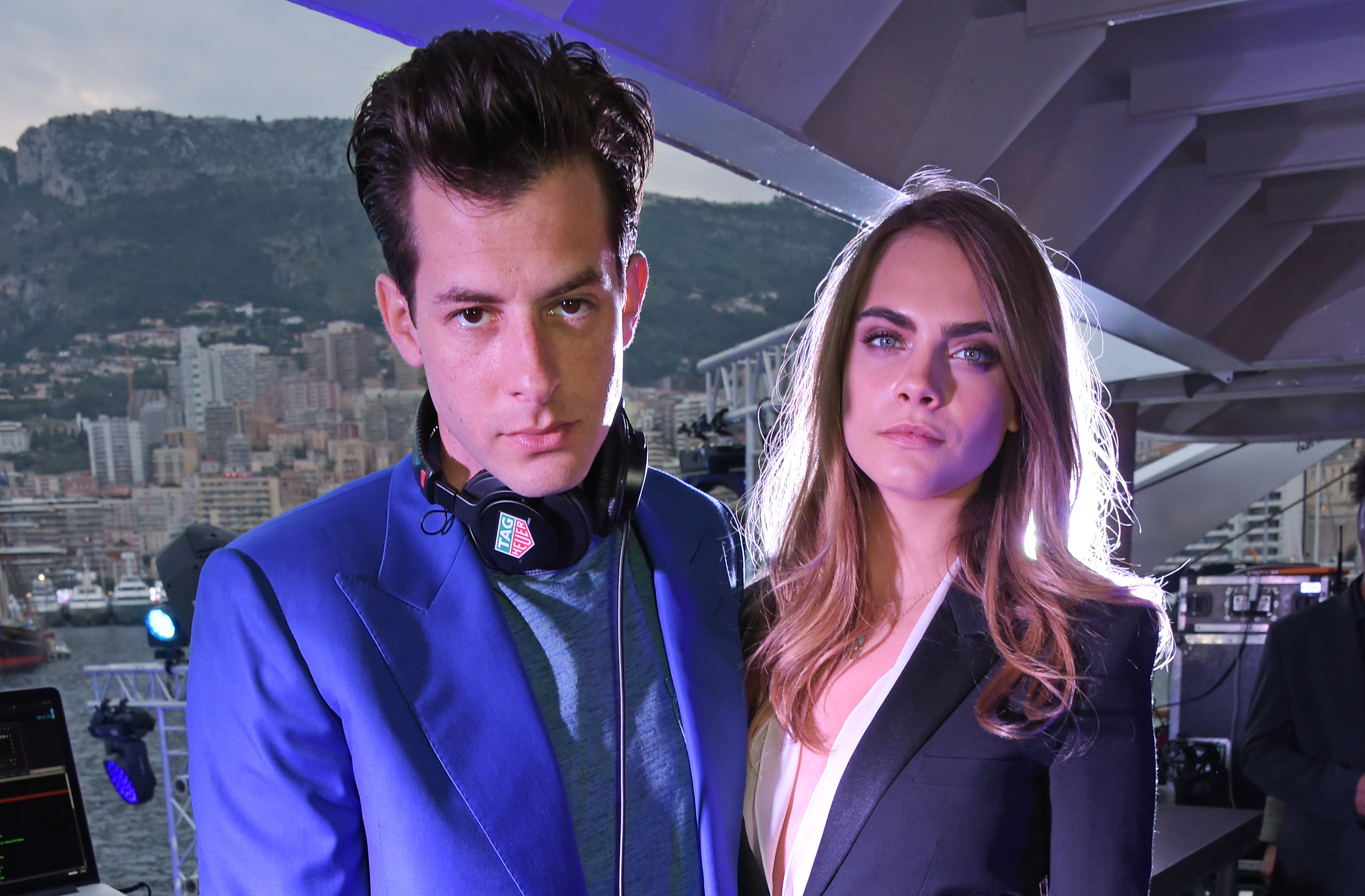 MONACO - MAY 23:  Mark Ronson (L) and brand ambassador Cara Delevingne attend the TAG Heuer Monaco Party on May 23, 2015 in Monaco, Monaco.  (Photo by David M. Benett/Getty Images for TAG Heuer) *** Local Caption *** Mark Ronson; Cara Delevingne