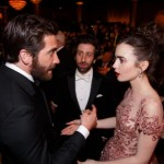 Jake Gyllenhaal, Lily Collins and Simon Helberg.