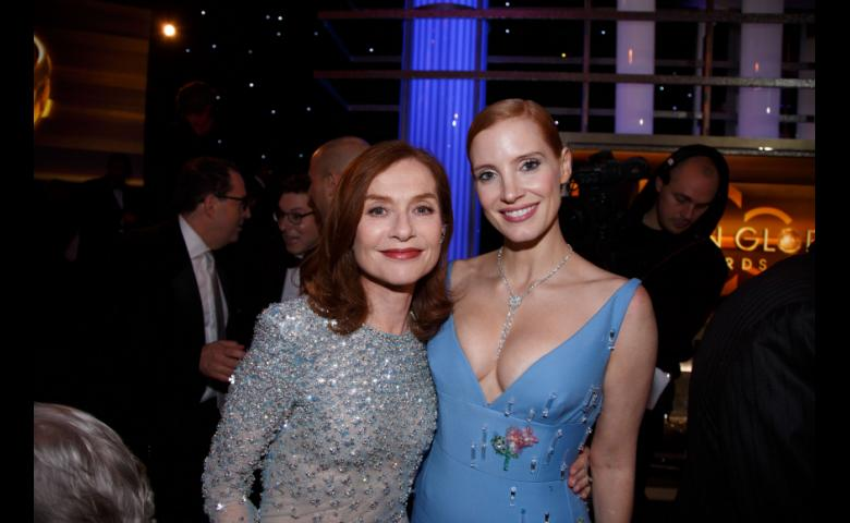 Jessica Chastain and Isabelle Huppert